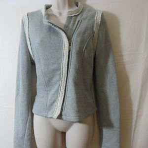 Gap Womens Grey Moto Jacket Size Small